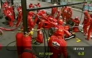 fastback - gp austria 1999 irvine pit stop