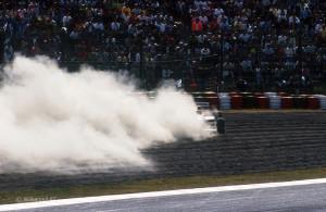 Mansell, Ritiro Giappone 1991