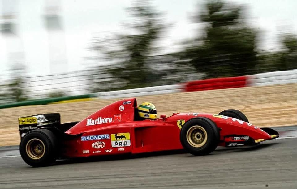 Sguardo Al Passato Quando Senna Firm 242 Per La Ferrari