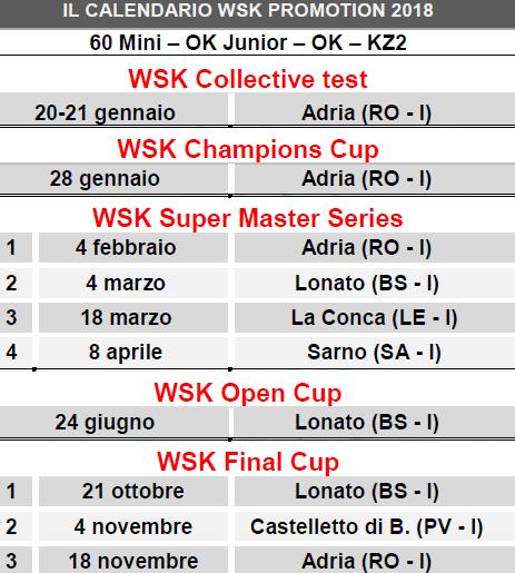 Calendario Castelletto Di Branduzzo.Ufficializzato Il Calendario 2018 Del Wsk Promotion